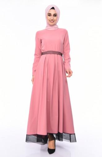 Kleid mit Band 8178-05 Puder Rosa 8178-05