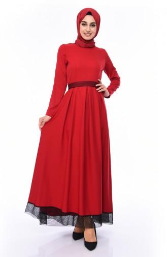 Belt Dress 8178-06 Red 8178-06
