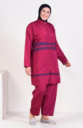 Kirsch Hijab Badeanzug 15257