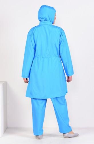 Hijab Swimsuit  25340 Blue 25340
