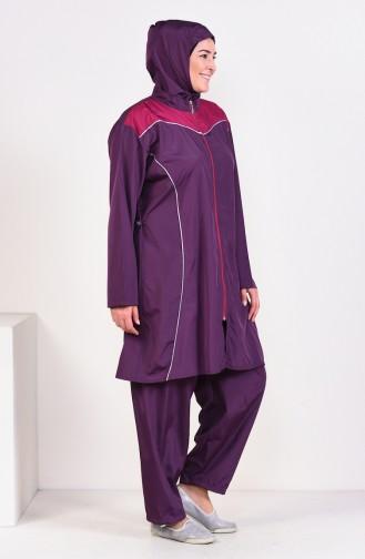 Hijab Swimsuit  25342 Plum 25342