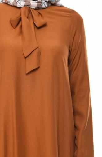 Krawatte Kragen Tunika 1055-02 Tabak 1055-02