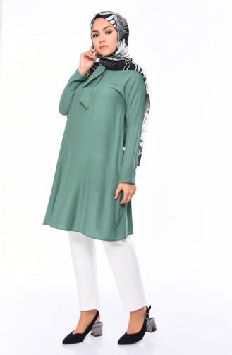 Tie Collar Tunic 1055-06 Green 1055-06