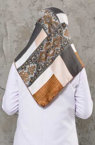 Patterned Rayon Scarf 2256-05 Gray 2256-05