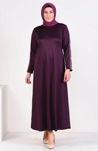 Lila Hijap Kleider 4560-01