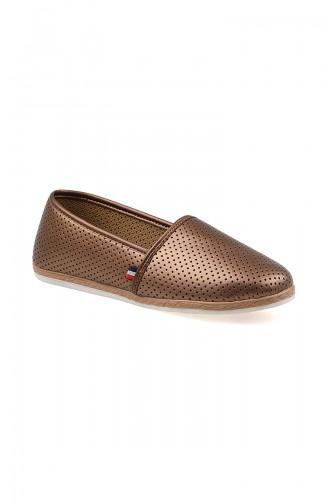Bayan Düz Ayakkabı 0127-09 Bronz 0127-09