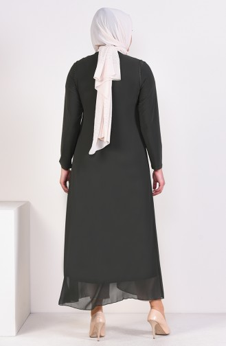 Habillé Hijab Khaki 6186-05