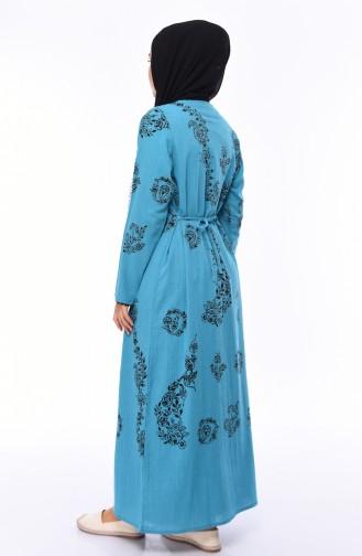 Robe Hijab Turquoise 0004-12