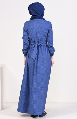 Pleated Dress 1240-07 Navy 1240-07