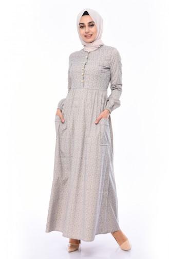 Pleated Dress 1242-01 Mink 1242-01