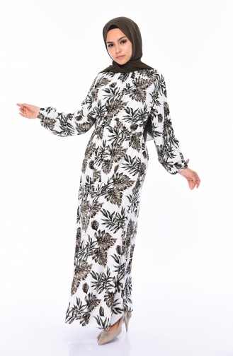 Robe Hijab Vert 1046C-02