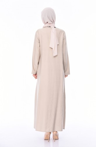 Linen Abaya 6824-01 Mink 6824-01
