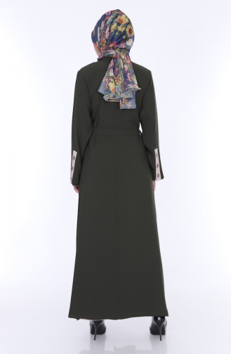 Abaya Elbise İkili Takım 7836-04 Haki 7836-04