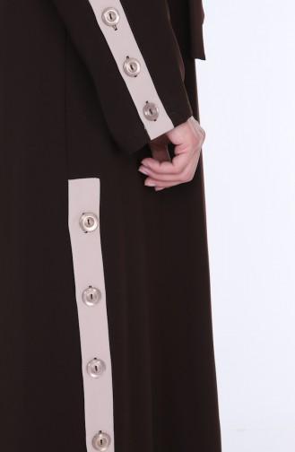 Abaya Kleid Doppel Set 7836-06 Braun 7836-06