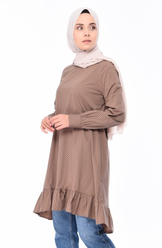 Frilly Tunic 1244-03 Mink 1244-03