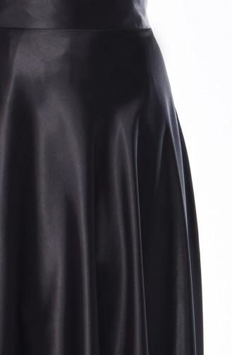 Satin Flare Skirt  21266-03 Black 21266-03
