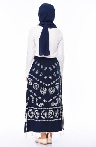 Navy Blue Skirt 0200-05