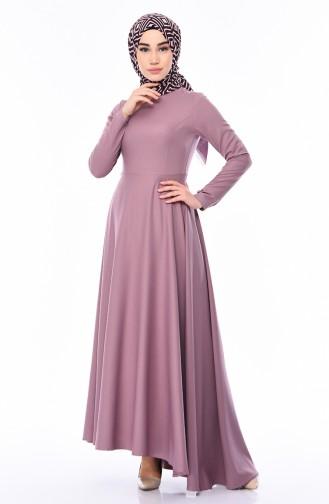 Asymmetrisches Kleid 4055-10 Lila 4055-10