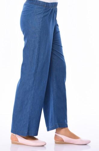 Elastic Plenty Hem Trousers 2818-04 Light Navy Blue 2818-04