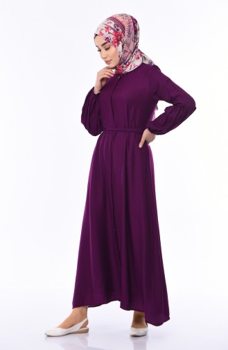 Robe Hijab Pourpre 0002-02