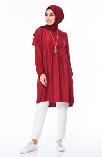 Plated necklace Tunic 2380-04 Bordeaux 2380-04