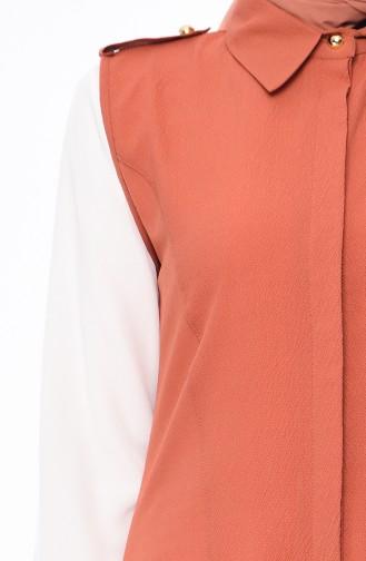 Gömlek Yaka Yelek 4514-06 Soğan Kabuğu