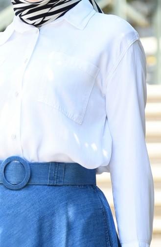 Sensual Pocket Tunic 6343-03 White 6343-03