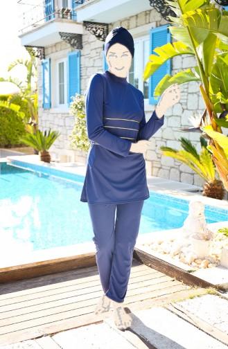 Navy Blue Swimsuit Hijab 1909-03