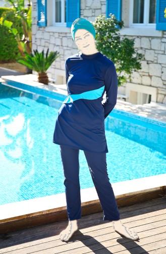 Navy Blue Swimsuit Hijab 1910-02