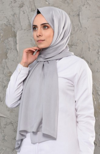 Plain Cotton Shawl 13009-04 Gray 13009-04
