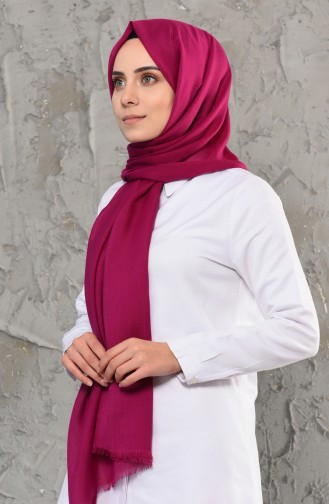 Plain Cotton Shawl 13009-12 Fuchsia 13009-12