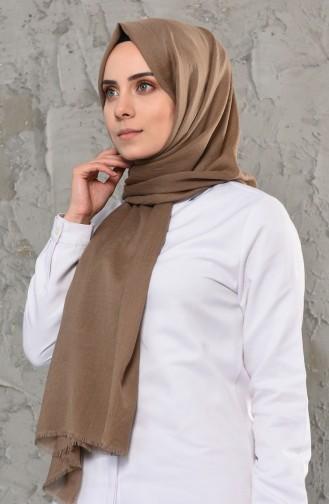 Plain Cotton Shawl 13009-20 Mink 13009-20