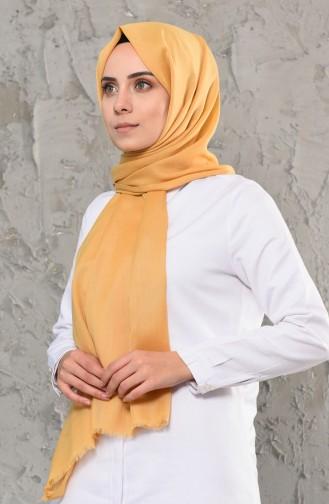 Plain Cotton Shawl 13009-27 Mustard 13009-27
