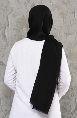 Plain Cotton Shawl 13009-29 Black 13009-29