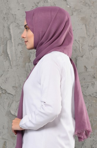 Plain Cotton Shawl 13009-30 dark Purple 13009-30