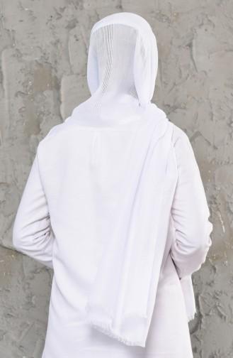Mesh Detail Shawls 19033-36 White 19033-36