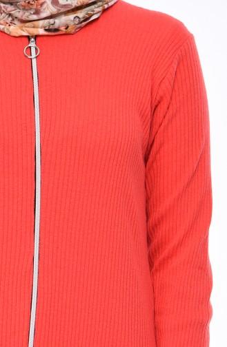 Zipper Tunic 8106-05 Pomegranate Flower 8106-05