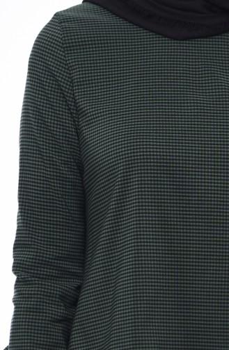 Fırfırlı Tunik 1200-06 Koyu Yeşil
