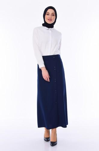 Navy Blue Skirt 0414-05