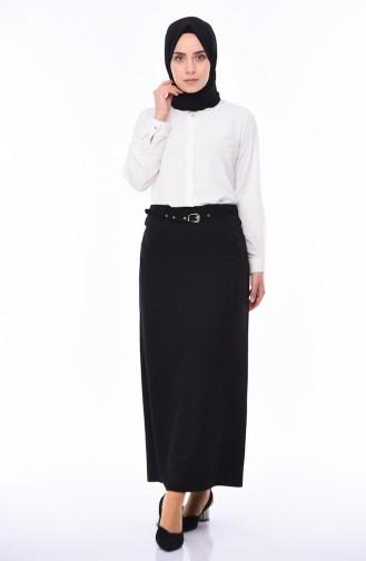 Belted Pencil Skirt 0415-01 Black 0415-01