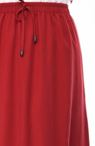 تنورة أحمر كلاريت 1124-04