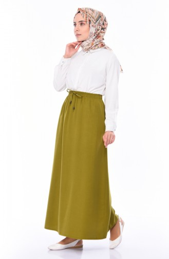 Elastic Waist Skirt 1126A-02 Pistachio Green 1126A-02