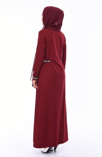 Dark Claret Red Abaya 99197-03