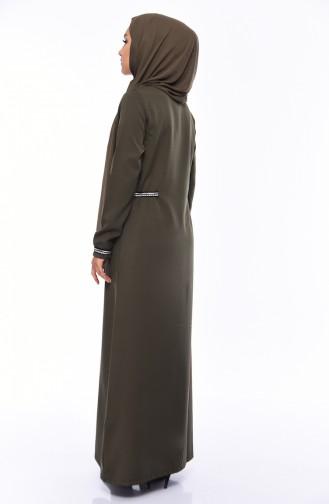 Khaki Abaya 99197-04