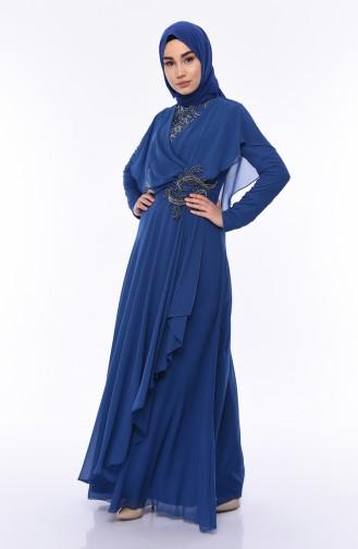 Indigo Islamic Clothing Evening Dress 8008-04