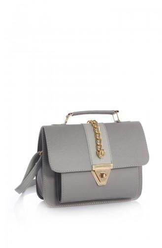 Stilgo Ladies Shoulder Bag Arn13z-05 Gray Skin 13Z-05