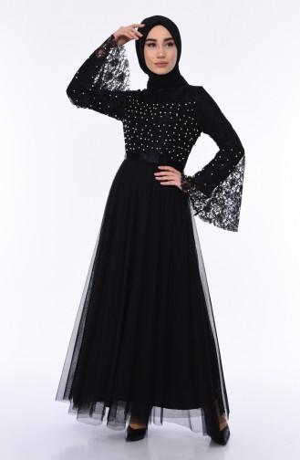 Black Islamic Clothing Evening Dress 81663-01