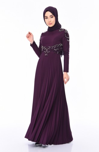 Purple İslamitische Avondjurk 8003-03