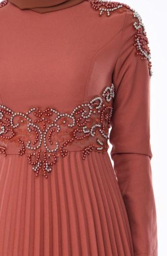 Onionskin Islamic Clothing Evening Dress 8003-06