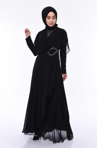Habillé Hijab Noir 8008-03